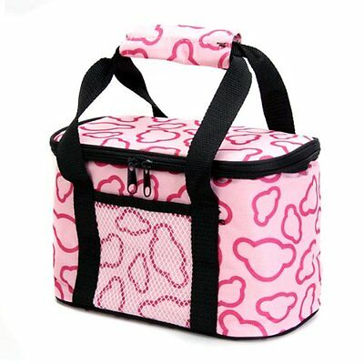 Insulated and Water-Proof LIning Lunch Box Bag Cooler Tote Bag--Pink ED