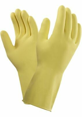 Marigold G04Y SureGrip Heavy Duty Strong Latex Rubber Chemical Resistant Gloves