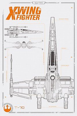 Star Wars Episode Vii (X Wing Plans) - Maxi Poster 61cm x 91.5cm PP33704 - 642
