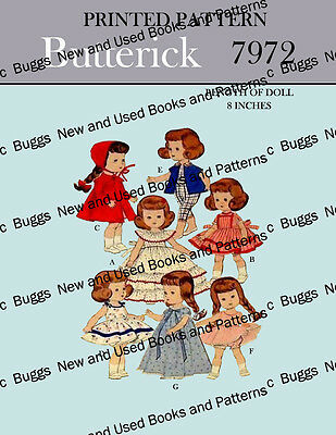 Butterick 7972 - for 8 inch dolls - Vogue Ginny, Storybook's, lingerie lou, etc
