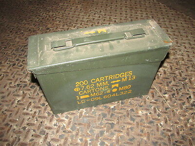 US Military 30 Cal Ammo Can (M19A1) - 1 single 30 caliber Metal storage