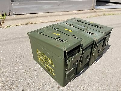 US Military 30 Cal Ammo Can (M19A1) - 4 pack 30 caliber Metal storage