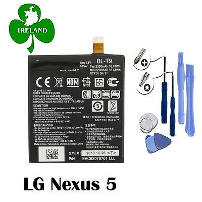 FOR LG NEXUS 5 GENUINE INTERNAL BATTERY REPLACEMENT BLT9 2300mAh With Tools