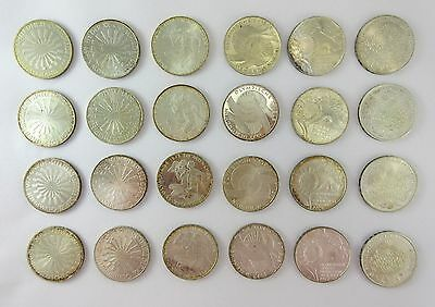 Lot Of (24) 1972 Germany Olympic Coins - 90% Silver 374.4 grams