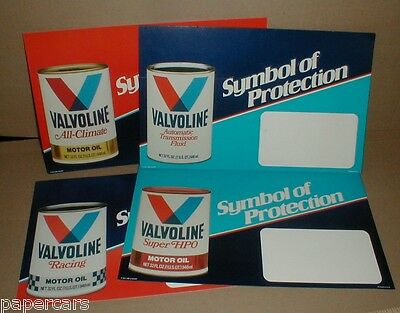 4 Valvoline Racing Motor oil Super HPO Can Vintage Counter Display lot Rare 1983