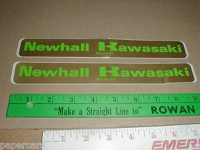 2 1980s Vintage Decal Stickers Kawasaki Motorcycles Dealer Newhall California CA