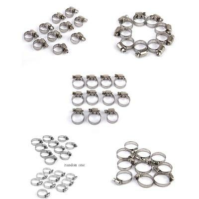 50PCS 5 sizes Adjustable Fuel Line Petrol Pipe Hose Clips Stainless Spring Clamp
