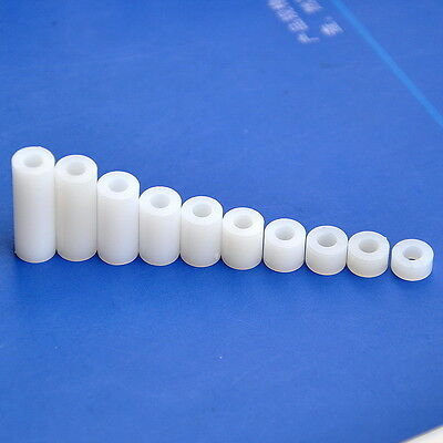 Nylon/ABS Round Spacer, Not-Threaded, for M3 M4 Screw, ID3.2 / 4.2mm
