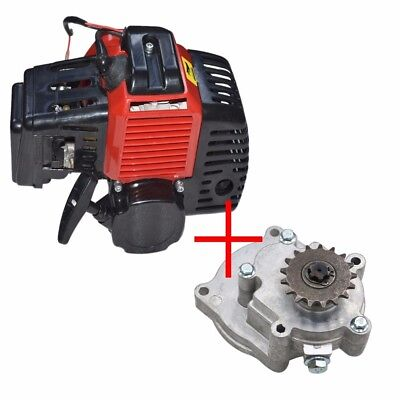 2 stroke Pull Start Engine Motor 49cc+ Gear Box Pocket Scooter Chopper Dirt Bike