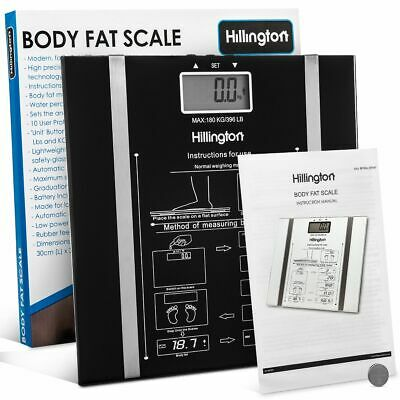 Digital Body Fat Scale Bmi Weighing Weight Loss Anti Slip Muscle Mass Analyser