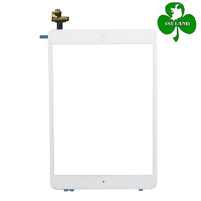 For iPad Mini 1/2 White Touch Screen Digitizer Glass with IC Chip + Home Button
