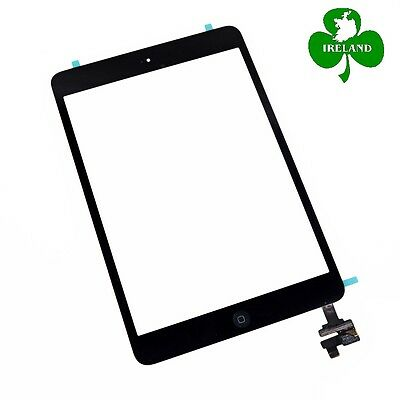 For iPad Mini 1/2 Black Touch Screen Digitizer Glass with IC Chip + Home Button
