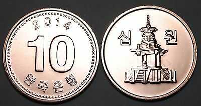 2014 South Korea 10 Won Coin BU Very Nice  KM# 103