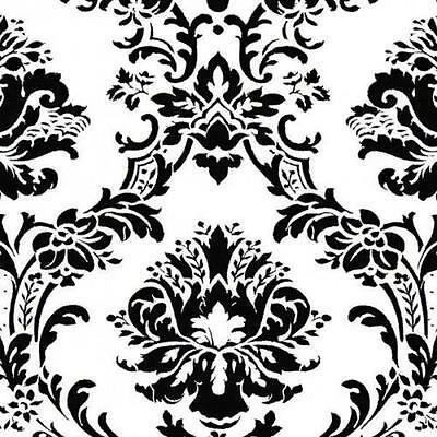 Black And White Victorian Damask Wallpaper BK32013 FREE SHIPPING 33 Foot Roll