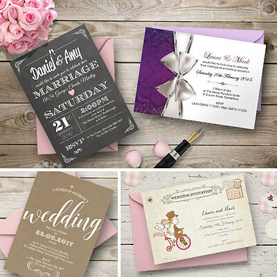 Personalised Wedding Day or Evening Invitations Invites Inc. FREE Envelopes