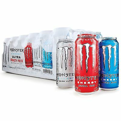 Monster Ultra Variety Pack (16 oz. cans, 24 pk.),Zero Calories and Sugars,358119