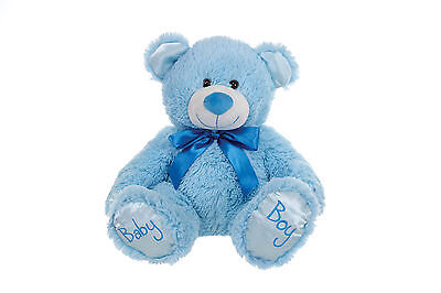 "Brand New Childs 8"" Baby Boy Blue Teddy Bear Plush Soft Toy For Children"
