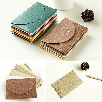 High 12 Pcs Pearlescent Paper Mini Envelope Vintage Fashion Craft Creative Hot