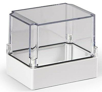 Electrical Enclosure NEMA 4X Polycarbonate 7x5x6 Waterproof Project Box Clear