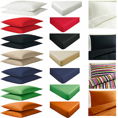 IKEA DVALA Pillowcases, Fitted / Flat Sheet, Duvet Cover Set Single, Double King