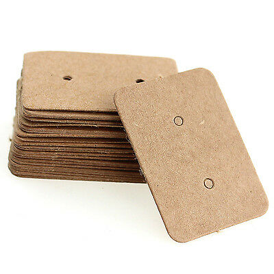 100X ST Professional Type Earring Ear Studs Holder Display Hang Kraft Card Paper