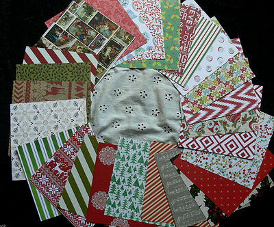 TOTALLY Mixed CHRISTMAS - 24 DOUBLE Sided = 48 Designs- Heavy CARDSTOCK 6x6 Pk