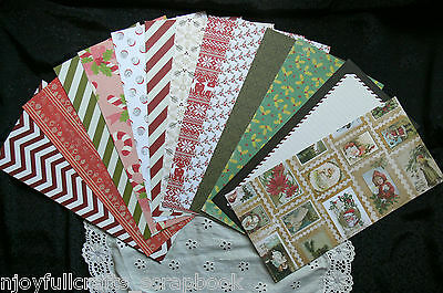 ALL TOTALLY Mix CHRISTMAS CARD KIT 13 Designs 6x12 Double Sided = 26 of 6x6