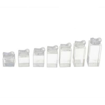 Lot  7 Sizes Clear Acrylic Ring Jewelry Display Stand Holder Showcase ORGANIZER