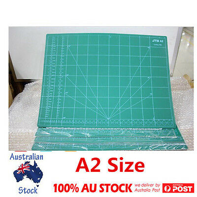 A2 Thick PVC Self Healing Craft Cutting Mat 2-Side Print Quilting Scrapbooking