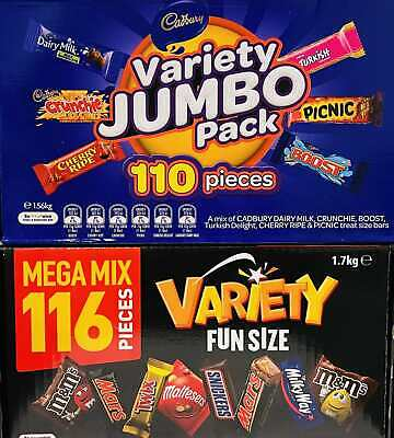 New Mars 116 VARIETY MIX+ Cadbury 110 VALUE JUMBO Pack Milk Chocolate Wholesale