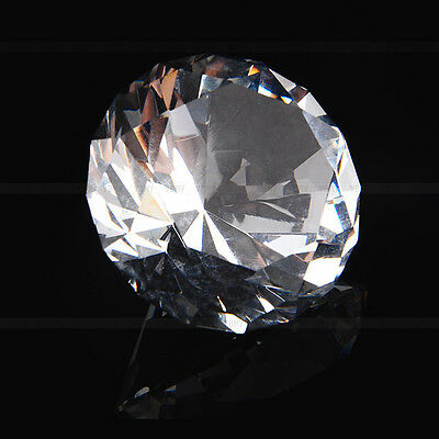 40mm Clear Crystal Diamond Cut Glass Jewelry Paperweight Wedding Home Decor Hot