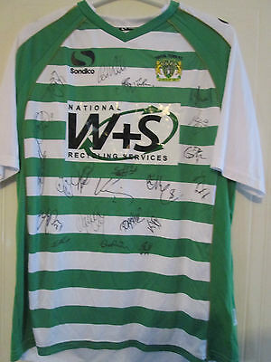 Yeovil Town 2013-14 Squad Signed Home Football Shirt BNWOT with club coa /39536