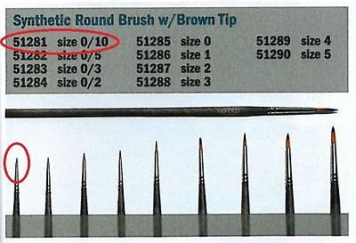 Italeri Model Tool - 0/10 Synthetic round brush with brown tip - A51281 - New