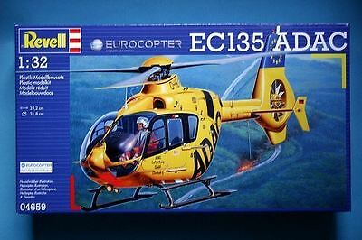 Revell Model Kit - EC135 ADAC Helicopter - 1:32 Scale - 04659