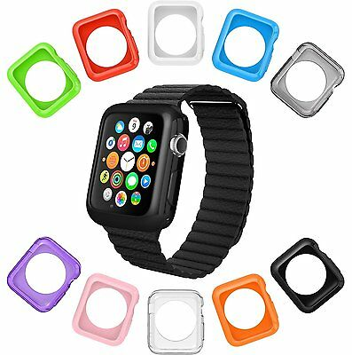 10 x Apple Watch Protective Case Cover iWatch Bumper Protector Soft Color 42 mm