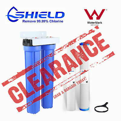 """Whole House Water Filter System 10"""" x4.5"""" Big Blue (2 stages) Sediment Carbon"""