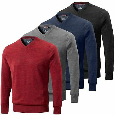 SALE!! Mizuno Warmalite Hayate V-Neck Thermal Sweater Golf Jumper- FULLY LINED