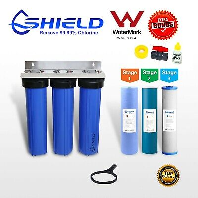 Whole House  Water Filter System 20''x4.5'' Triple Big Blue (3 stages)