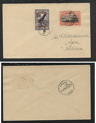 Tonga   68,69  overprinted stamp on cover local use      AT0608