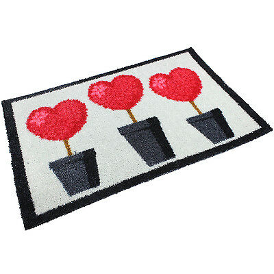 MEGA HEARTS 50x75cm ENTRANCE INDOOR DOOR MAT MUD DIRT GRABBER FLOOR PROTECTOR