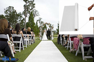 White Wedding Aisle Runner Ceremony Decoration Marriage Party Decor Carpet Roll