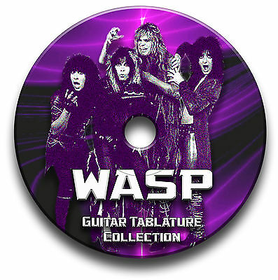 Wasp  Heavy Metal Rock Guitar Tabs Tablature Song Book Software Cd