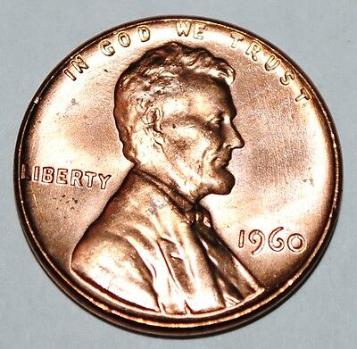 United States 1 Lincoln Memorial Cent 1960 P BU USA Penny UNC KM# 201