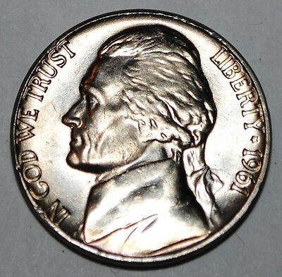 United States 5 Cents 1961 P Jefferson Nickel BU USA UNC KM# A192