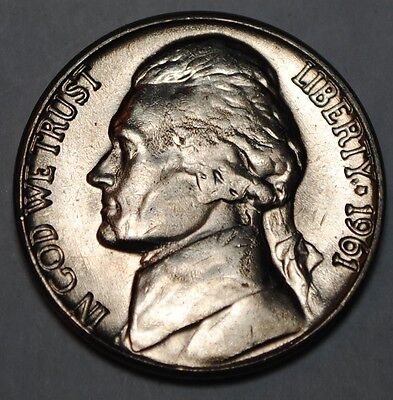 United States 5 Cents 1961 D Jefferson Nickel BU USA UNC KM# A192