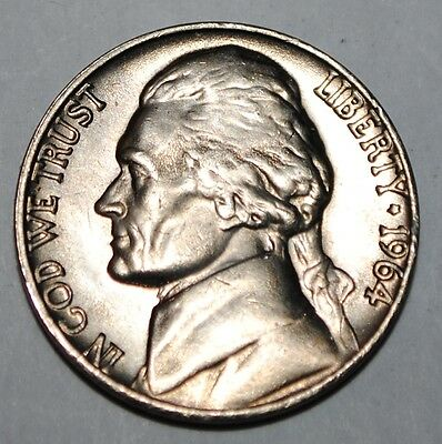 United States 5 Cents 1964 P Jefferson Nickel USA UNC KM# A192