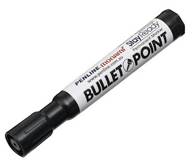 Permanent Marker Black / Waterproof and Fade Resistant / Plant Label