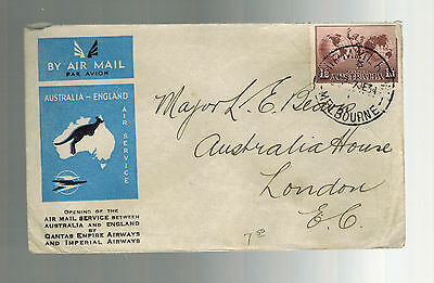 1934 Australia to England FFC First Flight Cover Imperial Airways Qantas