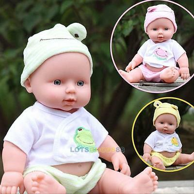 Reborn Baby Doll Toys Soft Vinyl Silicone Lifelike Newborn Baby Kids Toy Gifts