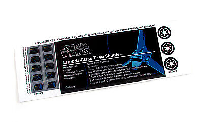 REPLACEMENT STICKERS for STAR WARS Lego 10212 75094 IMPERIAL SHUTTLE ,MODELS,ETC